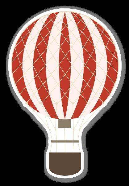 Rød luftballon klistermærker