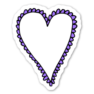 Coeur pourpre sticker
