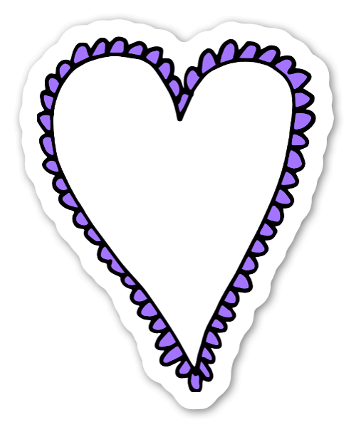 Purple heart  sticker