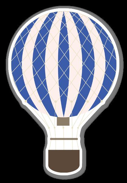 Blue hot air ballon stickers