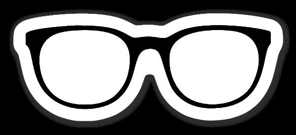Glasögon klistermärke sticker
