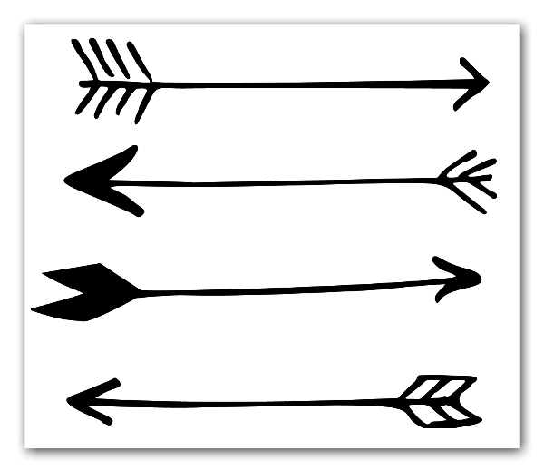 Four arrows sticker