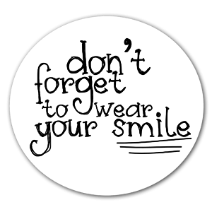 Wear your smile  sticker