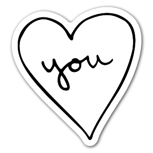 Heart you  sticker