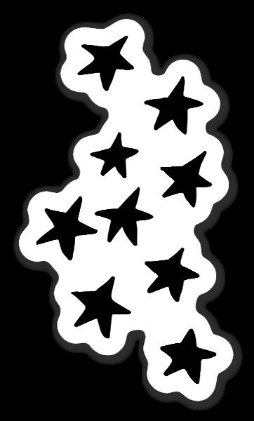 Fina Black Star Group Klistremerker