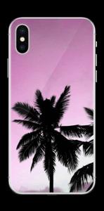 Rosa palmen für handyhüllen skin