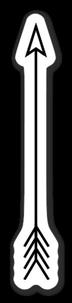A Simple Arrow sticker