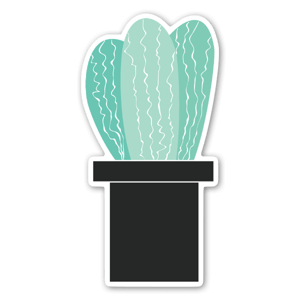Stickers with a cactus