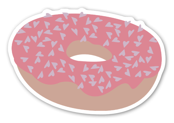 Love donut stickers