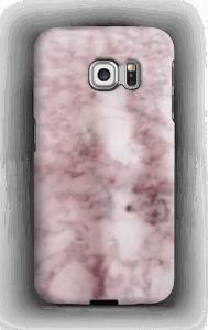 Mármore rosa Capa Galaxy S6 Edge