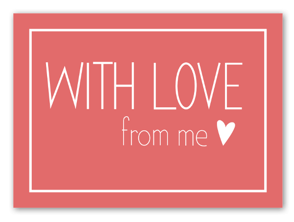 With love label sticker