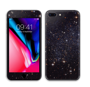 Sort Galakse Skin IPhone 8 Plus