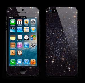 Sort Galakse Skin IPhone 5