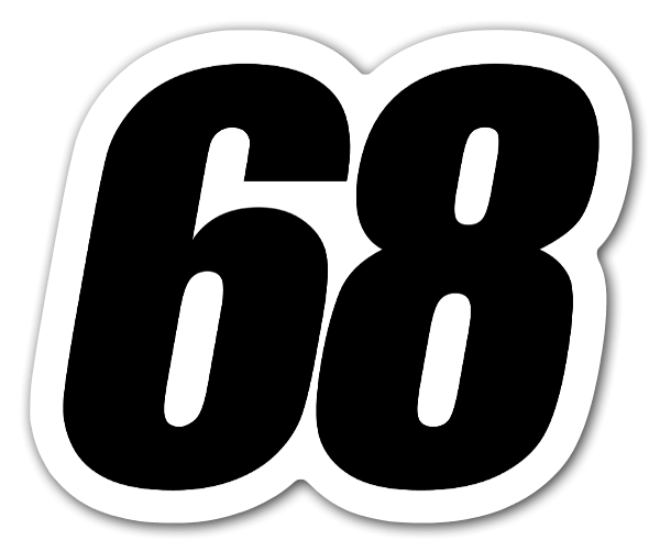 Racing 68 sticker