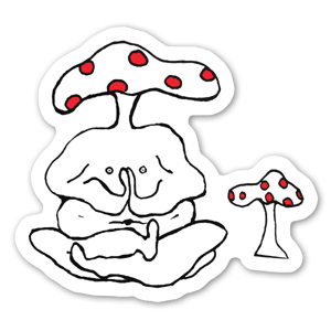 The Mushroom man  sticker