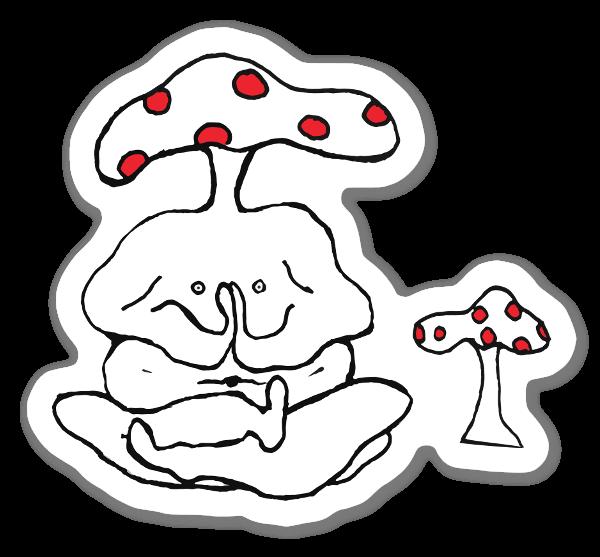 Paddenstoelenman sticker