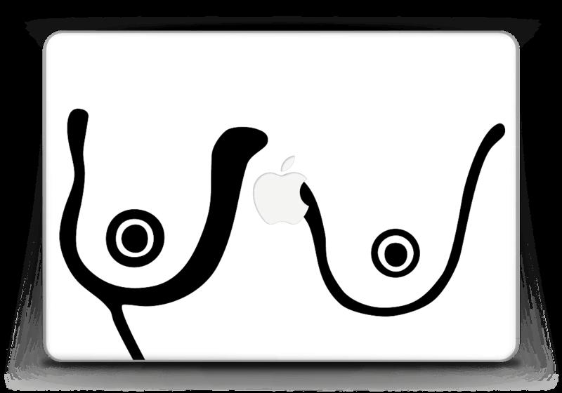 """Grafiske bryst Skin MacBook Pro Retina 13"""" 2015"""