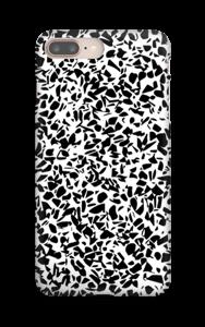 Mustavalkosirpaleet kuoret IPhone 8 Plus