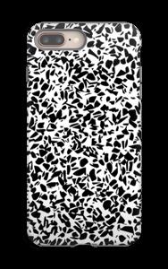 Mustavalkosirpaleet kuoret IPhone 8 Plus tough