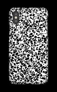 Grafisk Terazzo i svart og hvit deksel IPhone X