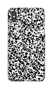 Grafisk Terazzo i svart og hvit deksel IPhone XS Max