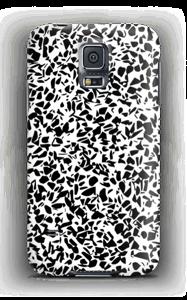 Mustavalkosirpaleet kuoret Galaxy S5