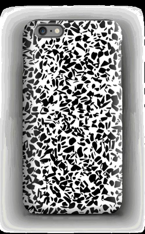 Grafisk terazzo sorthvid cover IPhone 6 Plus tough