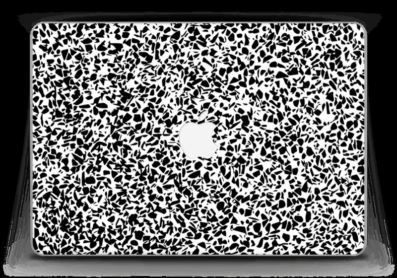 "Grafisk Terazzo i svarthvit Skin MacBook Pro Retina 13"" 2015"