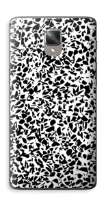 Grafisk Terazzo i svarthvit Skin OnePlus 3