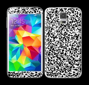 Grafisk Terazzo i svarthvit Skin Galaxy S5