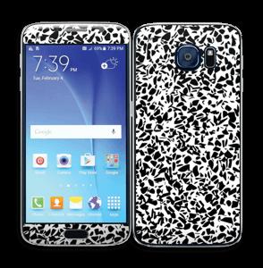Grafisk Terazzo i svarthvit Skin Galaxy S6