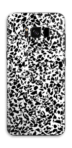 Grafisk Terazzo i svarthvit Skin Galaxy S8