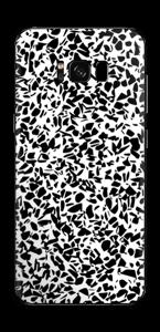 Grafisk Terazzo i svarthvit Skin Galaxy S8 Plus