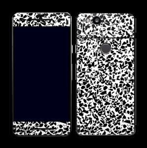 Grafisk Terazzo i svarthvit Skin Pixel 2