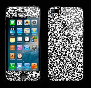 Grafisk Terazzo i svarthvit Skin IPhone 5s