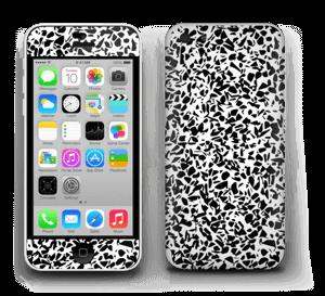 Noir et blanc Skin IPhone 5c