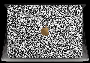 """Grafisk Terazzo i svarthvit Skin MacBook 12"""""""
