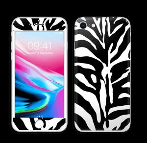 Sebramønster Skin IPhone 8