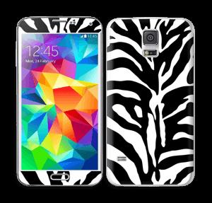 Sebramønster Skin Galaxy S5