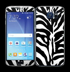 Sebramønster Skin Galaxy S6