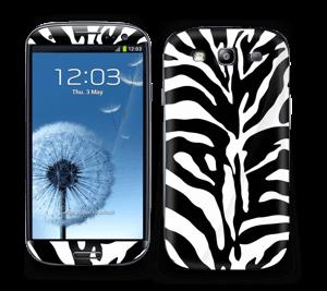 Sort og hvid zebra Skin Galaxy S3