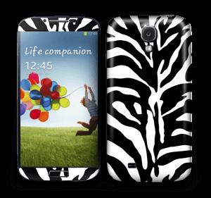 Sebramønster Skin Galaxy S4