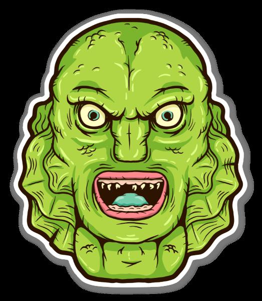Groen monster sticker