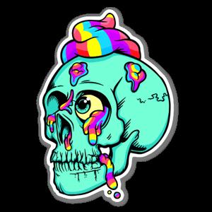 SHIT SKULL sticker