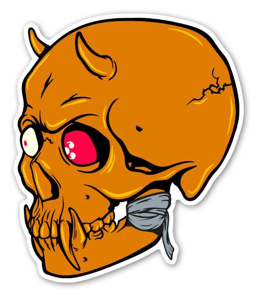 Hannya skull sticker