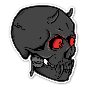 Demon l sticker