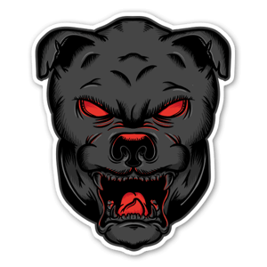 Demon Dog sticker