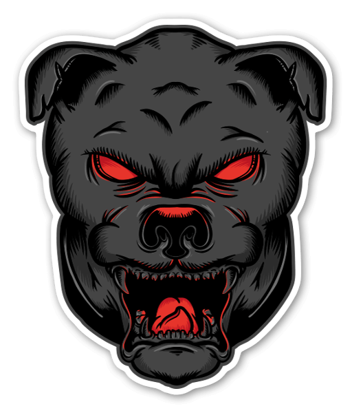 Dog deamon sticker