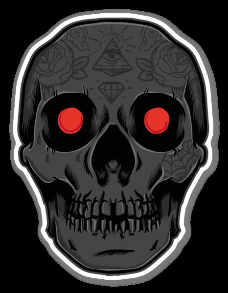 demon sticker skull nr 3