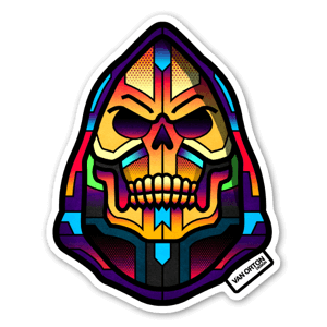 Hue skeletor sticker